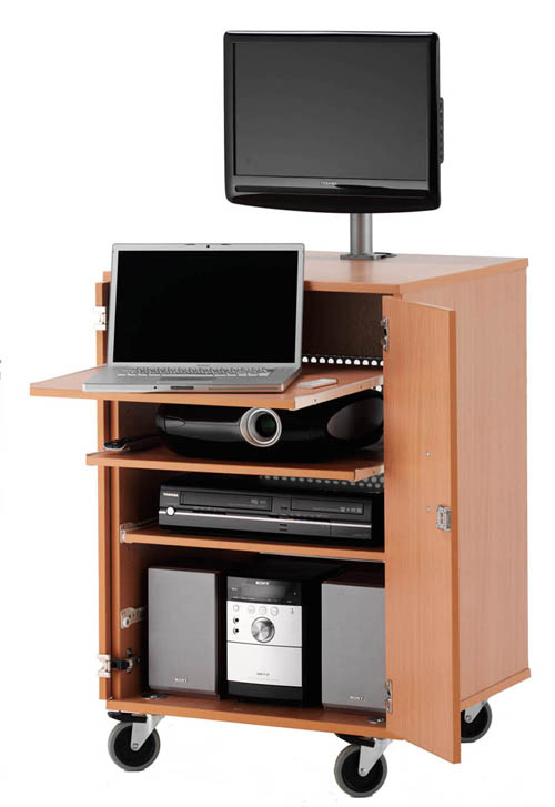 MC-600 LOCKING MULTIMEDIA CABINET FLATPACK
