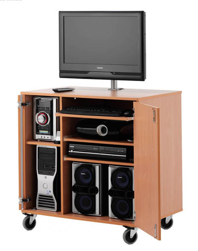 MC-900 LARGE LOCKING MULTIMEDIA CABINET